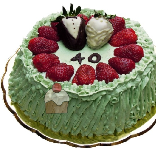 Simpatica torta per festeggiare 40 anni di matrimonio for Decorazioni torte per 60 anni di matrimonio