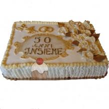 Torte per compleanni anniversari a forma di numero for Decorazione torte per 50 anni di matrimonio